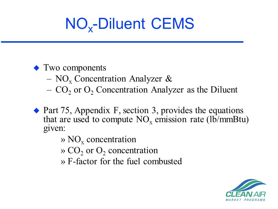 NOx-Diluent CEMS Two components NOx Concentration Analyzer &