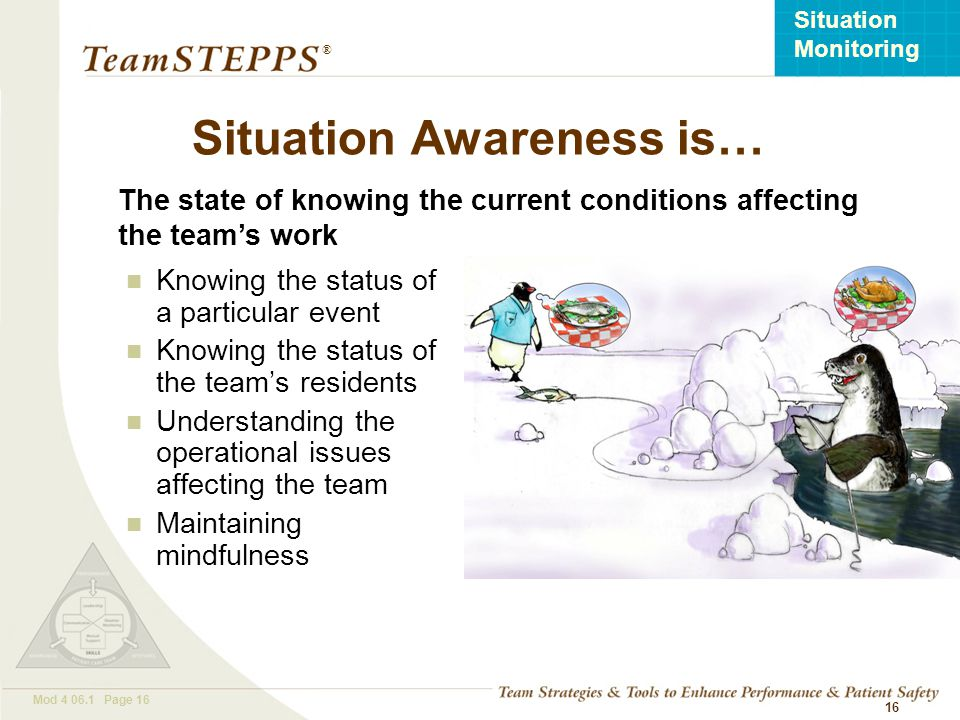 Situation Awareness is…