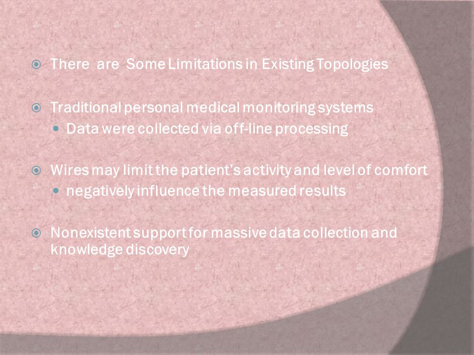 There are Some Limitations in Existing Topologies