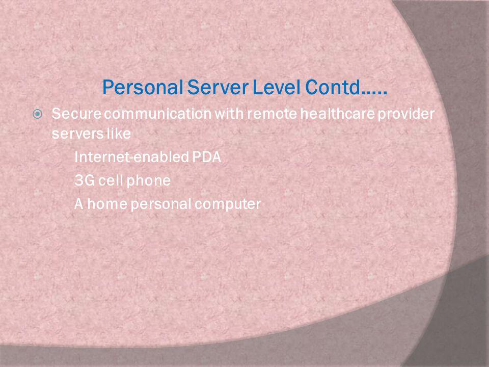 Personal Server Level Contd…..