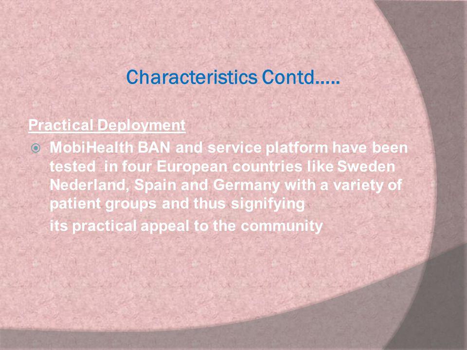 Characteristics Contd…..