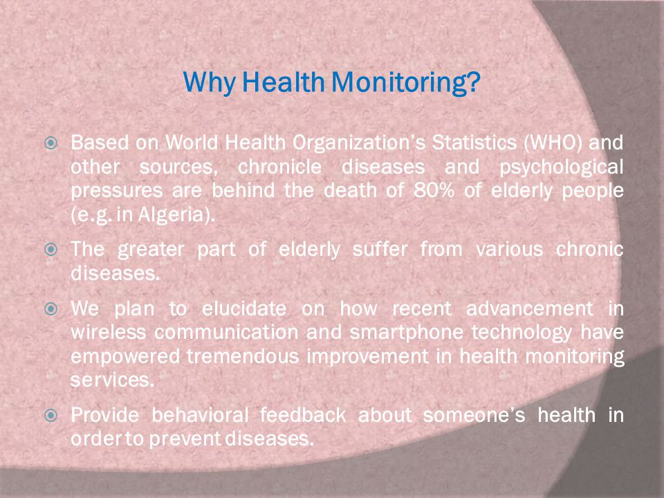 Why Health Monitoring