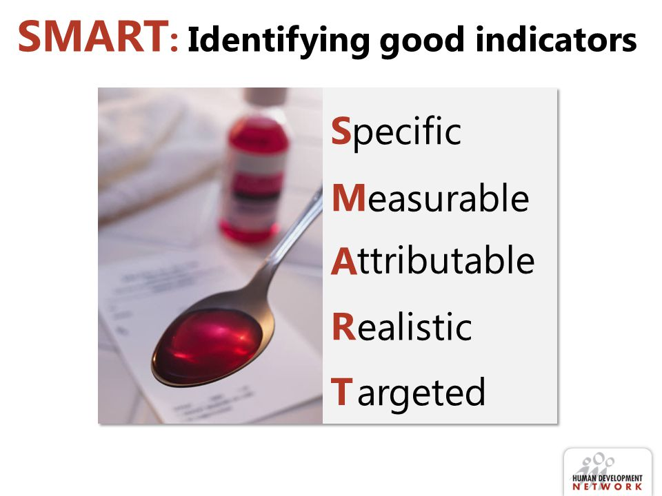 SMART: Identifying good indicators