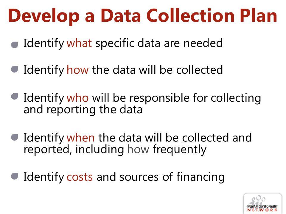 Develop a Data Collection Plan