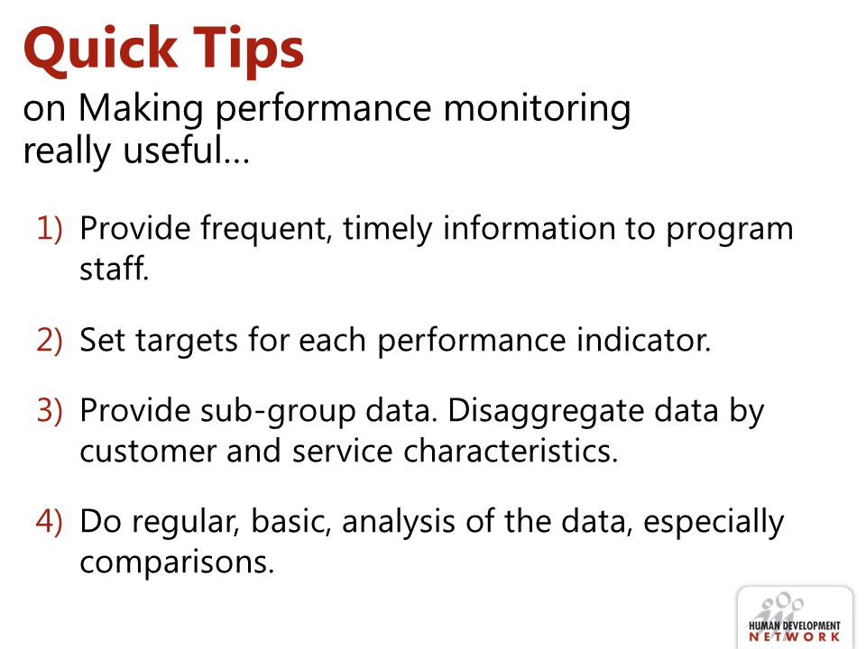 Quick Tips on Making performance monitoring really useful…