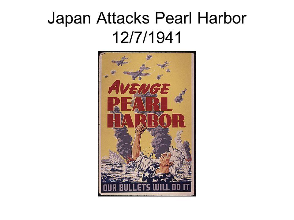 Japan Attacks Pearl Harbor 12/7/1941