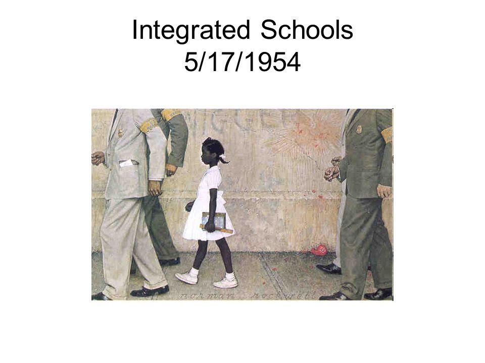 Integrated Schools 5/17/1954