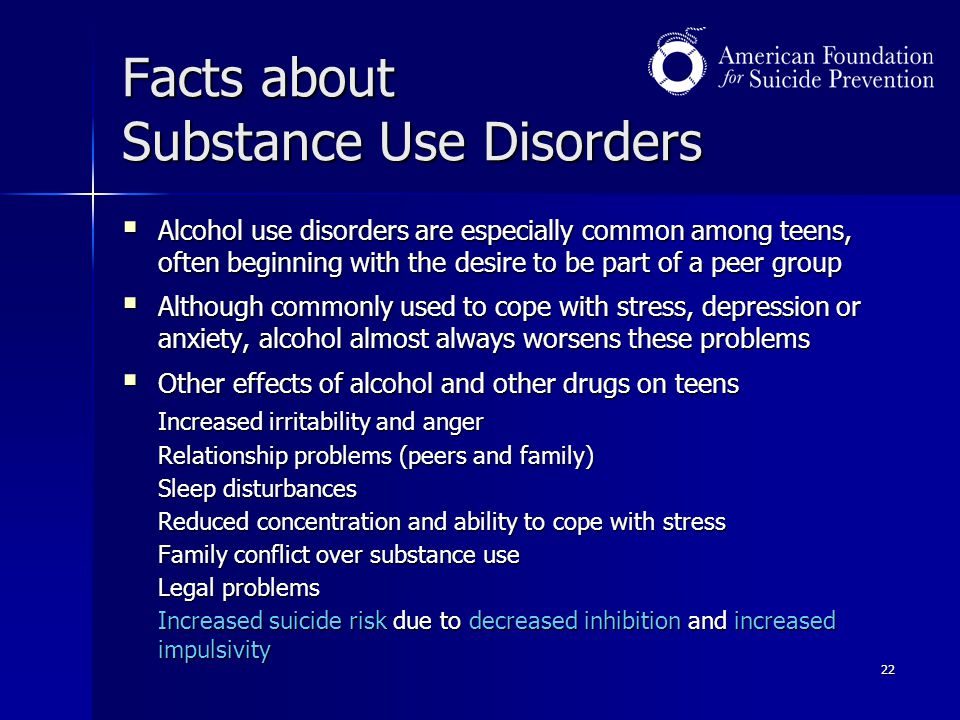 Facts about Substance Use Disorders