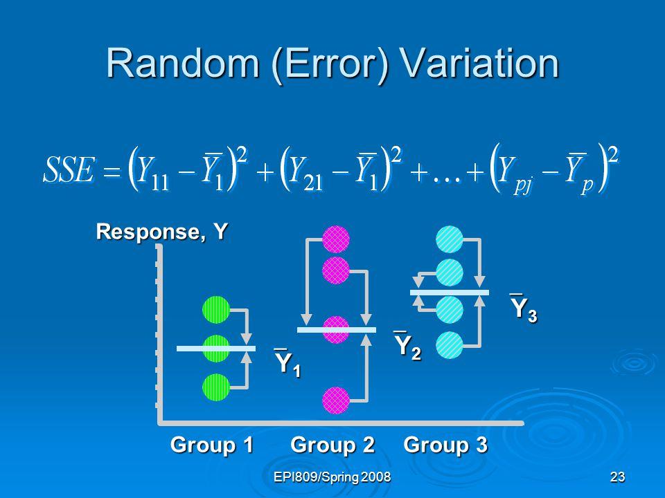 Random (Error) Variation
