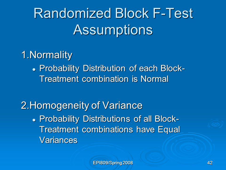 Randomized Block F-Test Assumptions