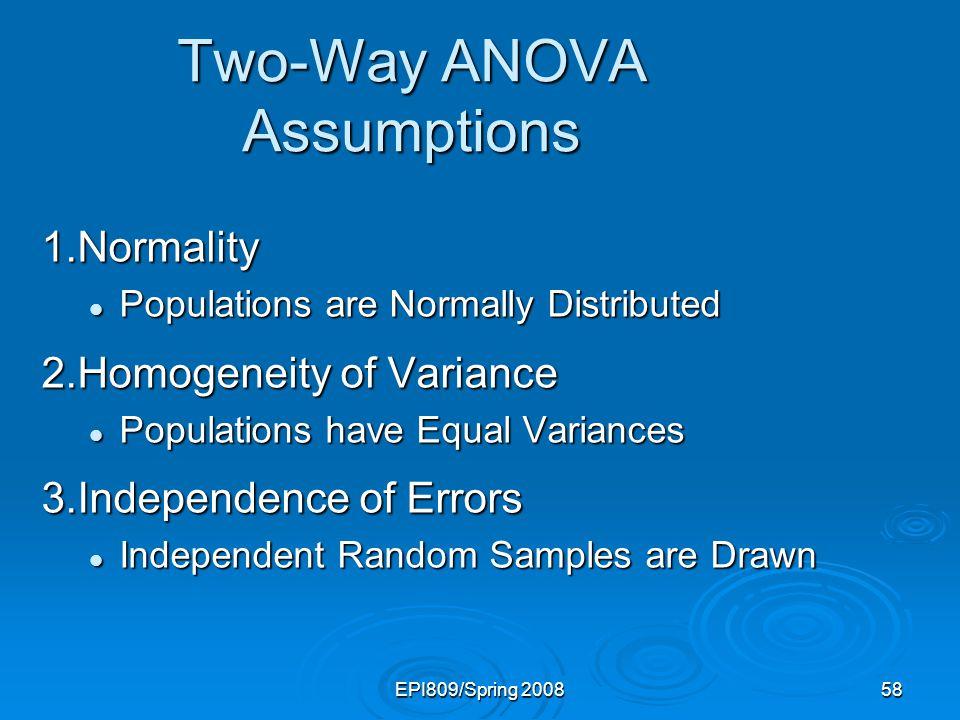 Two-Way ANOVA Assumptions