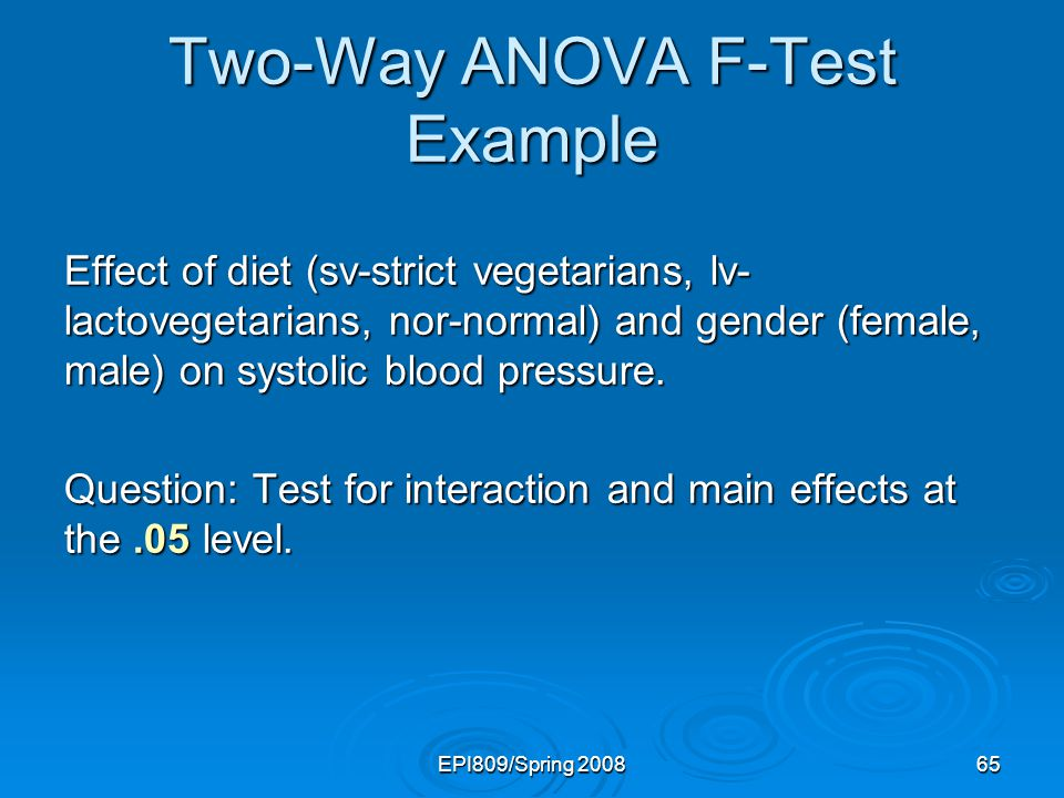 Two-Way ANOVA F-Test Example