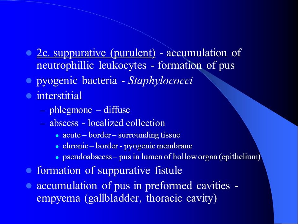 pyogenic bacteria - Staphylococci interstitial