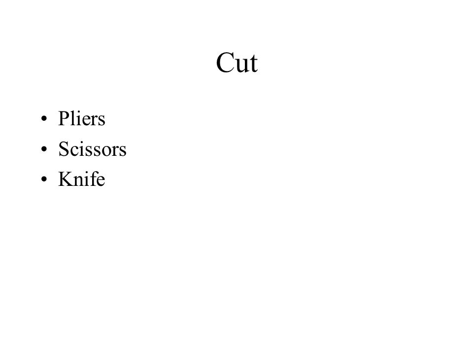 Cut Pliers Scissors Knife