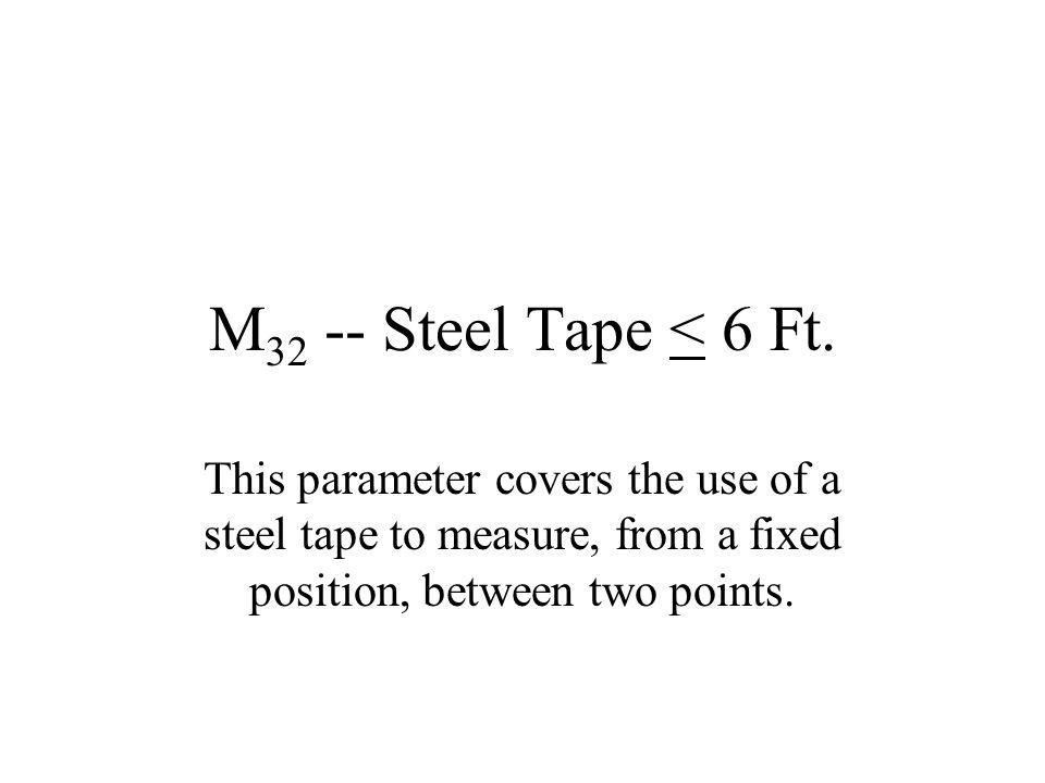 M32 -- Steel Tape < 6 Ft.