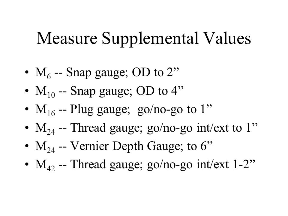 Measure Supplemental Values