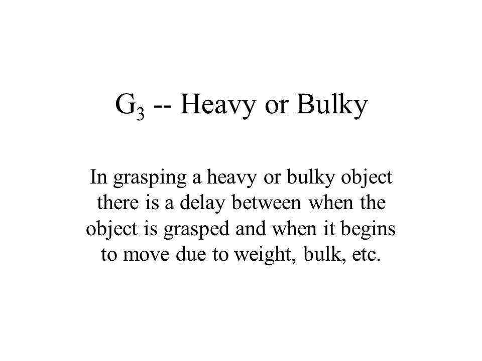 G3 -- Heavy or Bulky