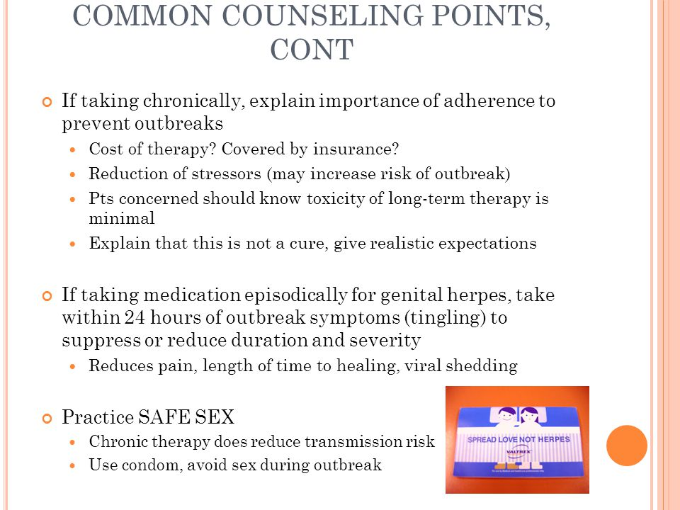 COMMON COUNSELING POINTS, CONT