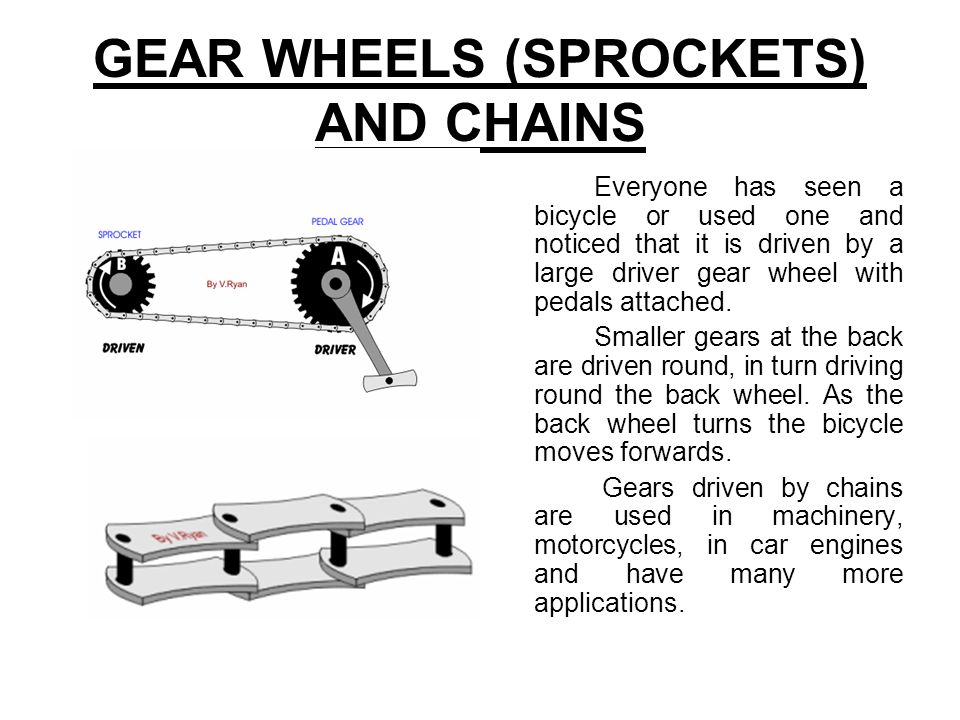 GEAR WHEELS (SPROCKETS) AND CHAINS
