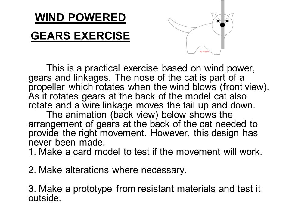 WIND POWERED GEARS EXERCISE