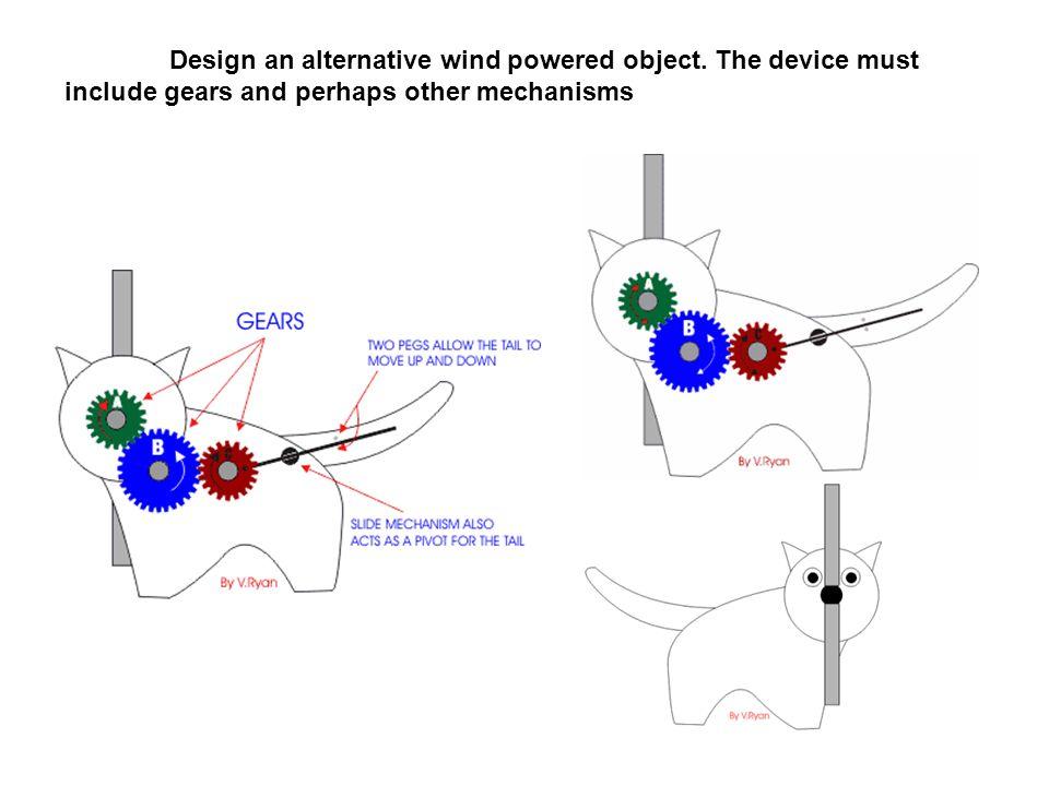 Design an alternative wind powered object