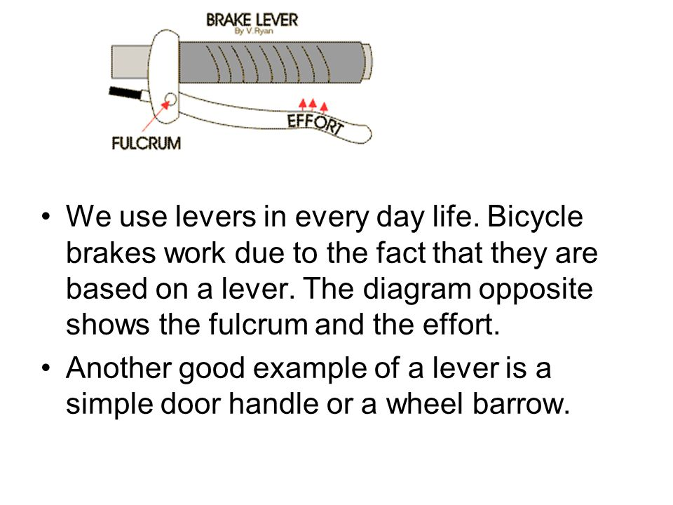 We use levers in every day life