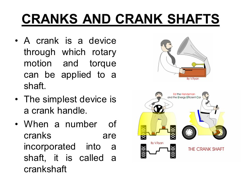 CRANKS AND CRANK SHAFTS