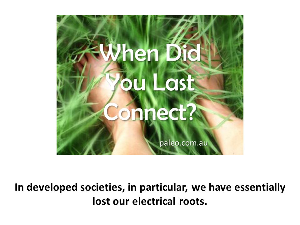 In developed societies, in particular, we have essentially lost our electrical roots.