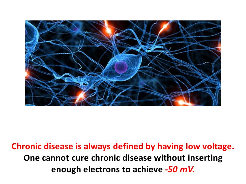 Chronic disease is always defined by having low voltage