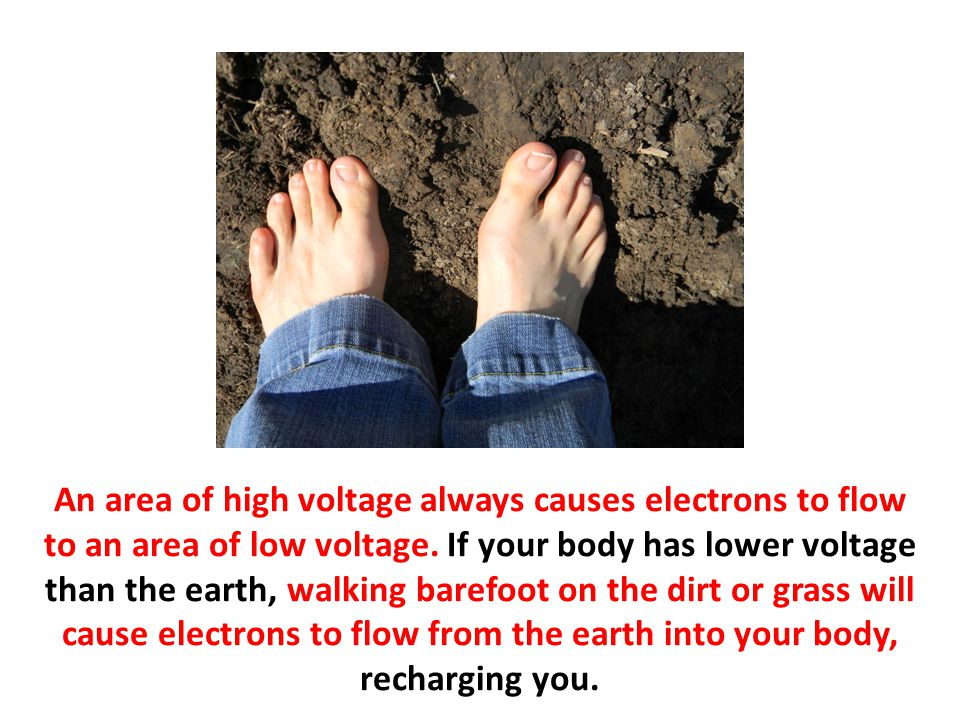 An area of high voltage always causes electrons to flow to an area of low voltage.
