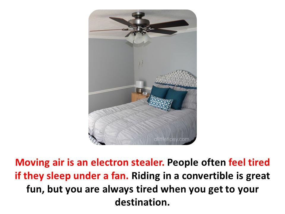 Moving air is an electron stealer