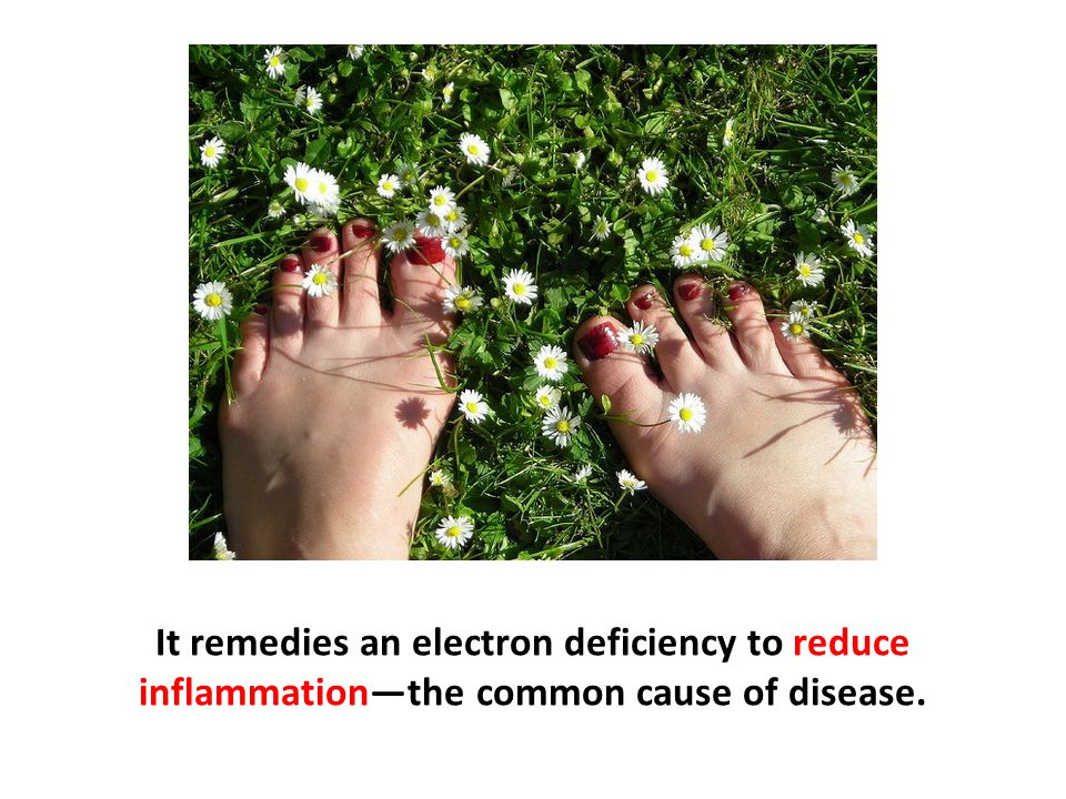 It remedies an electron deficiency to reduce inflammation—the common cause of disease.