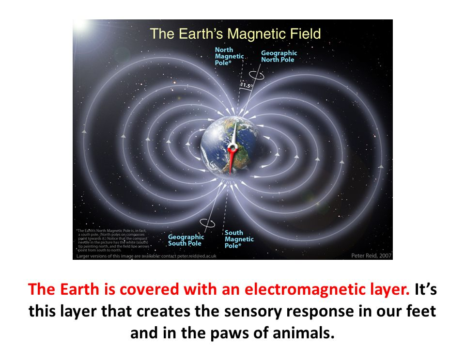 The Earth is covered with an electromagnetic layer
