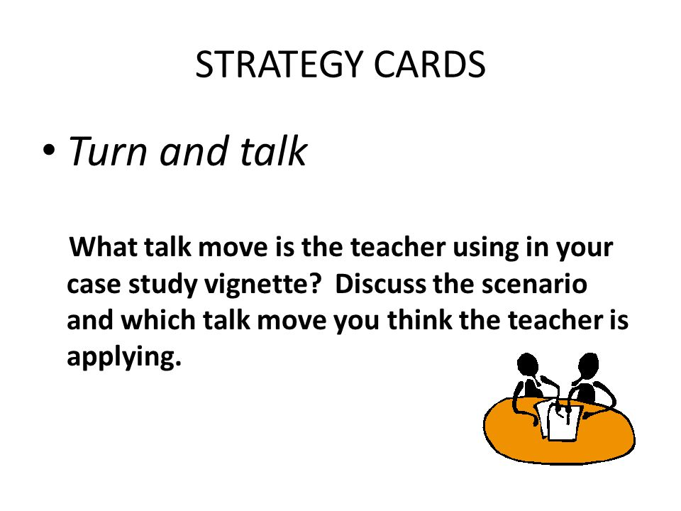 Turn and talk STRATEGY CARDS