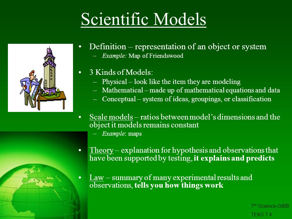 Scientific Models Definition – representation of an object or system