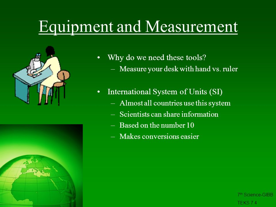 Equipment and Measurement