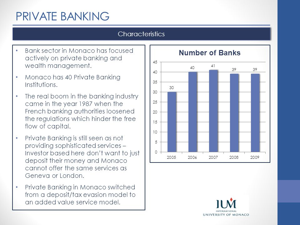 PRIVATE BANKING Characteristics