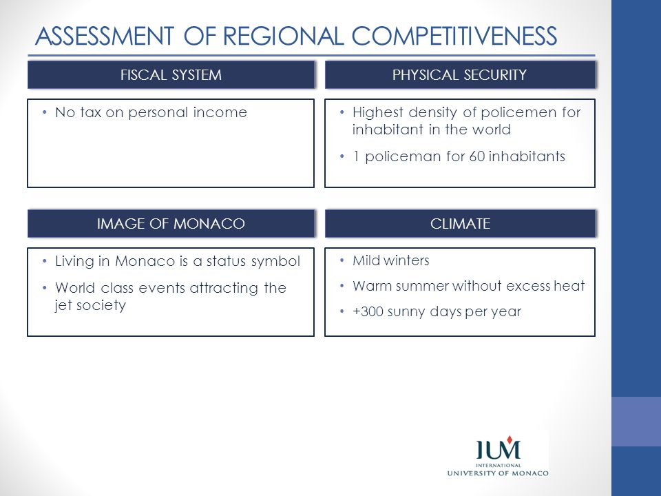 ASSESSMENT OF REGIONAL COMPETITIVENESS