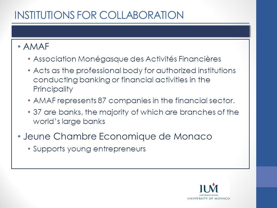 INSTITUTIONS FOR COLLABORATION