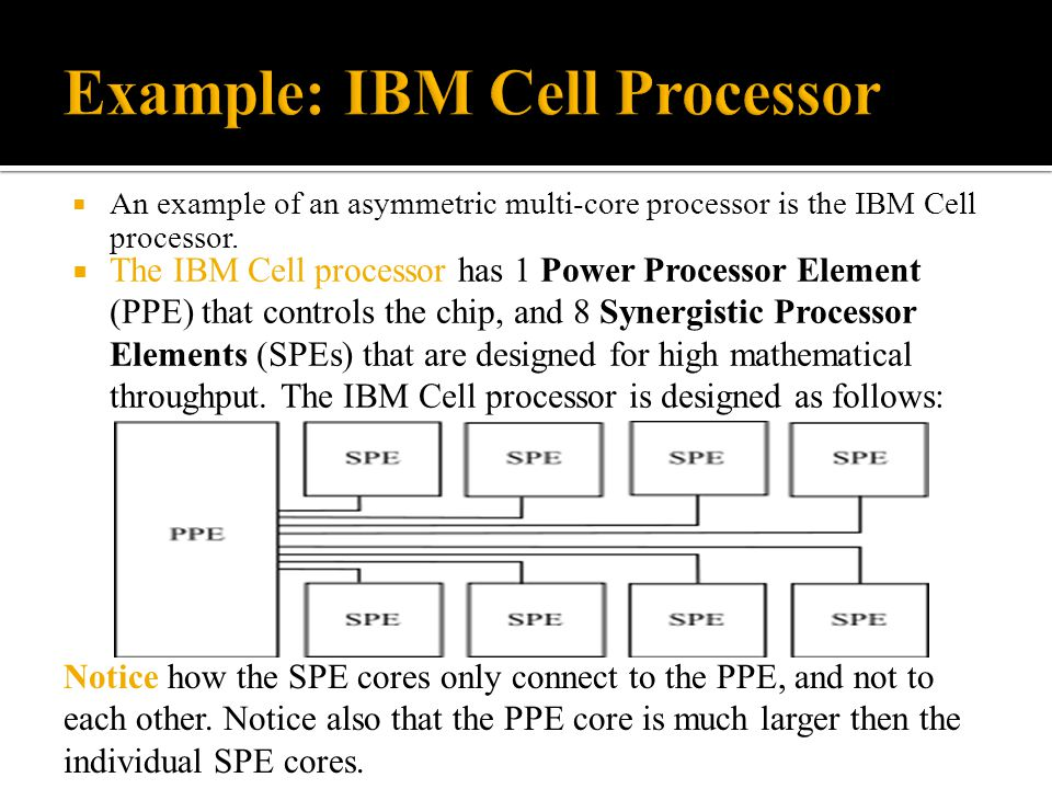 Example: IBM Cell Processor