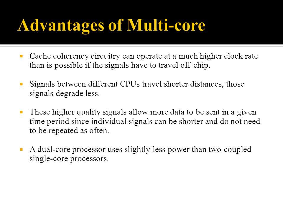 Advantages of Multi-core