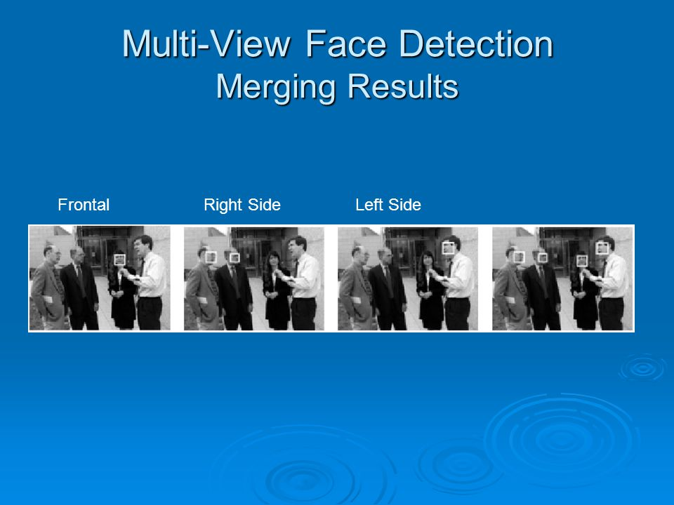 Multi-View Face Detection Merging Results