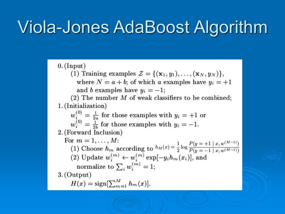 Viola-Jones AdaBoost Algorithm