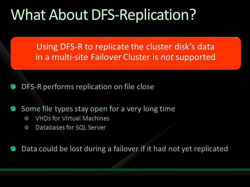 What About DFS-Replication