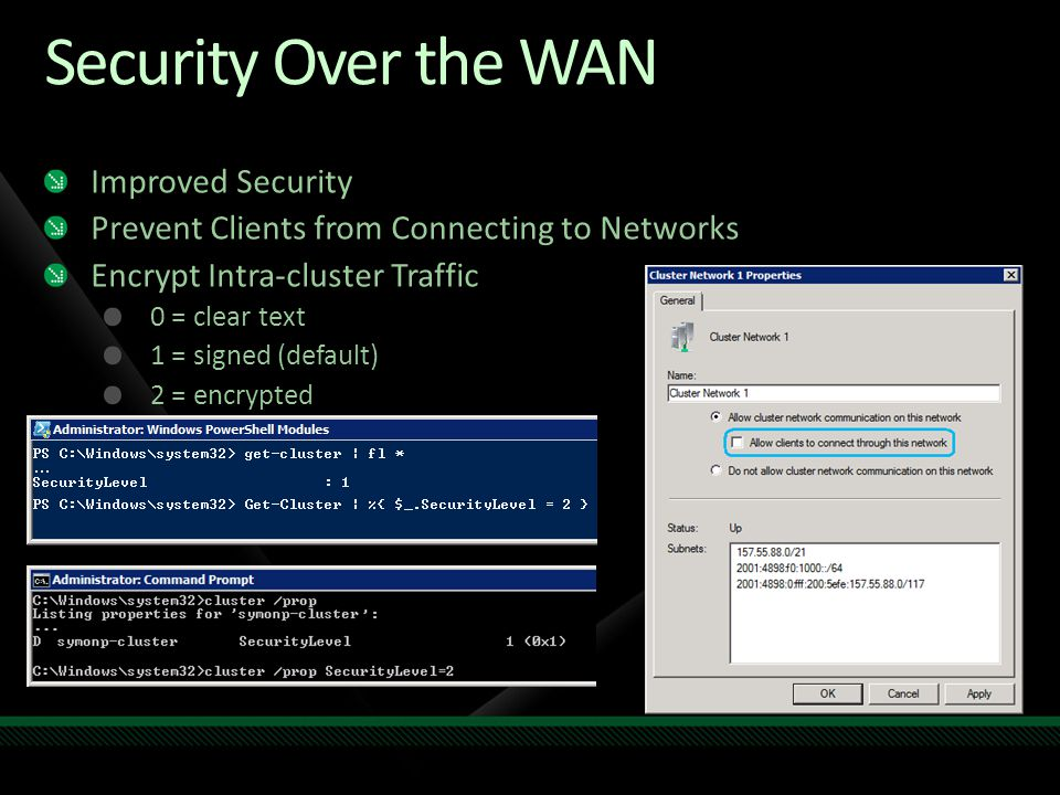 Security Over the WAN Improved Security