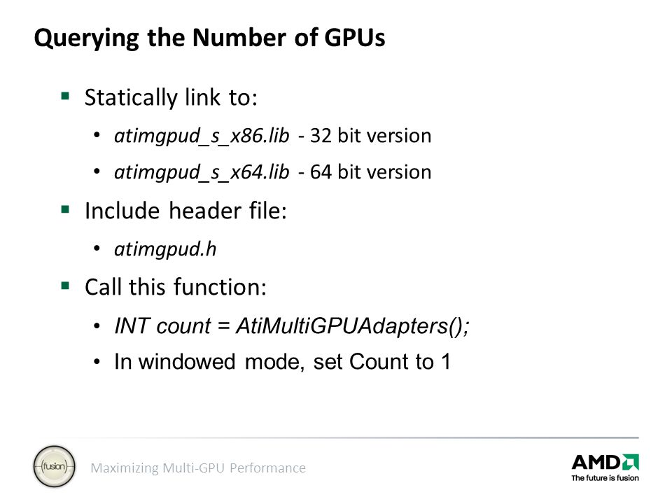 Querying the Number of GPUs