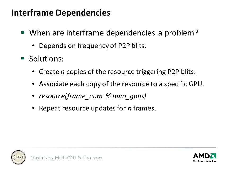 Interframe Dependencies