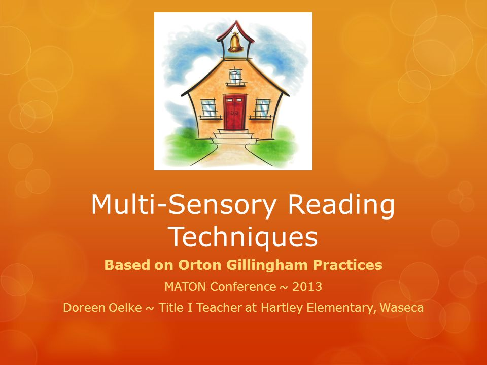Multi-Sensory Reading Techniques