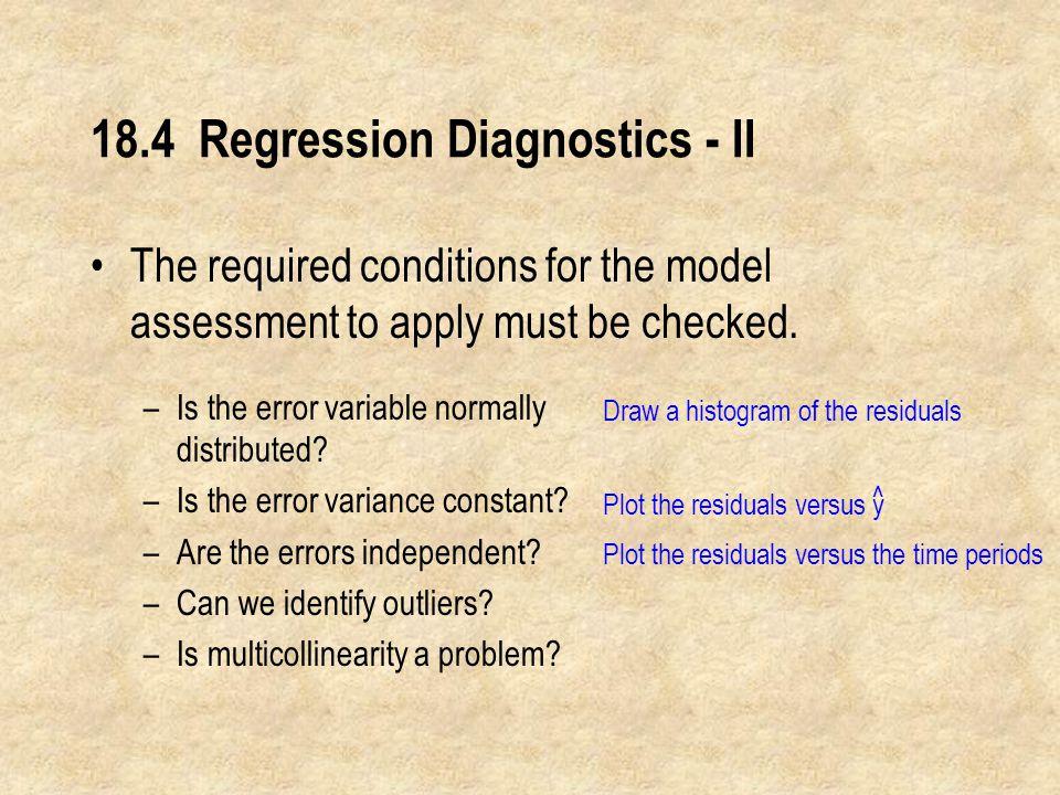 18.4 Regression Diagnostics - II
