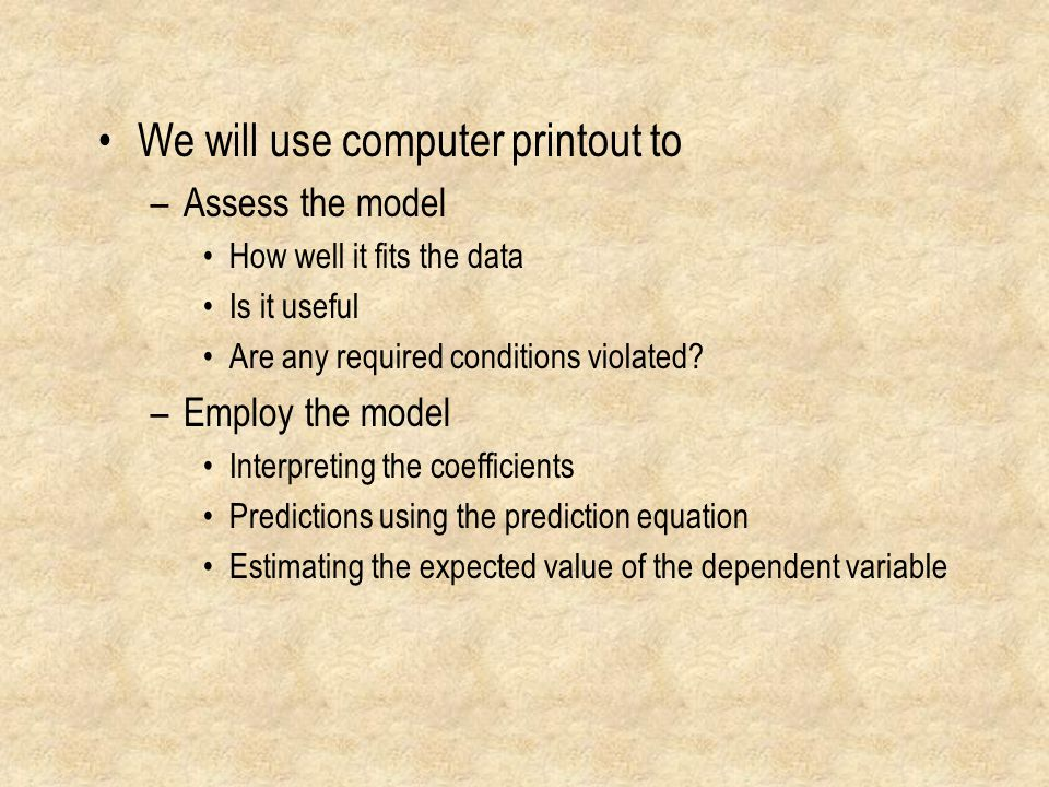 We will use computer printout to